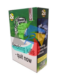 Green (Formally Apple Martini) Flavoured Double Packs Blunt Wraps - 25 pack (BL036)