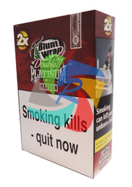 Maroon (Formally Wet Cherry) Flavoured Double Packs Blunt Wraps - 25 pack (BL040)