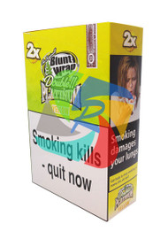 Yellow (Formally Mango) Flavoured Double Packs Blunt Wraps - 25 pack (BL045)