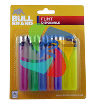 Bullbrand 6 Translucent Lighters on a Euro Display Card - 36 pack