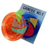 No'1 Acrylic 2 part Non-Magnetic Grinder - 12 Pack (GR044)