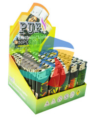 Electronic Lighters with a RASTA Theme/Design - 50 pack (TL088)