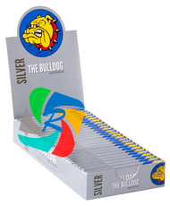 The Bulldog Regular  Slim Silver x25 Booklets