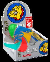 The Bulldog Kingsize Slim Silver  & Filter Tips x24 Booklets