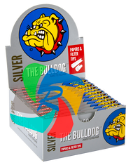 The Bulldog Kingsize Slim Silver  & Filter Tips x24 Booklets