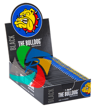 The Bulldog 1 1/4 Slim Black Paper x25 Booklets