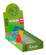 The Bulldog 1 1/4 Slim Green Paper & Tips x25 Booklets