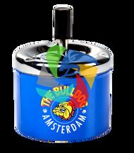 The Bulldog 90mm diameter Spinning Ashtray Blue