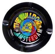 The Bulldog 120mm diameter Metal Ashtray  Black x30 Per Pack.