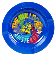 The Bulldog 120mm diameter Metal Ashtray Blue x30 Per Pack
