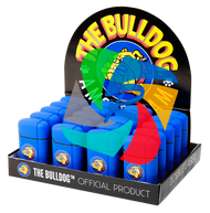 The Bulldog Double Laser Easy Grip Lighters  Blue x20 Lighters