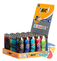 The Bulldog Maxi Bic Lighters  Colourful  x50 Lighters