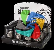 The Bulldog Metal Blazer Lighters  Black  x24 Lighters