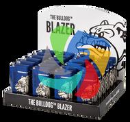 The Bulldog Metal Blazer Lighters  Blue x24 Lighters