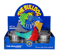 The Bulldog 40mm Embossed Metal 2 Part Grinder  x12 individual