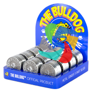 The Bulldog 40mm Embossed Metal 3 Part Grinder x12 individual