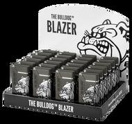 The Bulldog Metal Blazer Lighters Grey  x24 Lighters