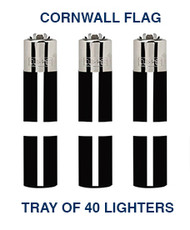 Clipper Flint Lighters with Cornall Design -  40 pack