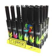 Clipper Mini Utility Lighters with LEAF Design -  24 pack