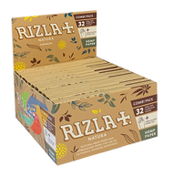 RIZLA NATURA COMBI PACK KINGSIZE HEMP SLIM PAPER &TIPS (Pack Size: 24)