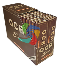 OCB - VIRGIN PREMIUM KINGSIZE SLIM ROLLING PAPERS & TIPS (24 PER BOX)