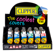 CLIPPER FLINT  LIGHTERS - THE BULLDOG LOGO DESIGN POP COVERS