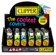 CLIPPER FLINT LIGHTERS - THE BULLDOG RAINBOW DESIGN POP COVERS