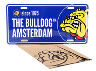The Bulldog - American Style Number Plate (Blue)