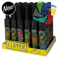 Clipper Mini Utility Lighters with LEAFY Design -  24 pack