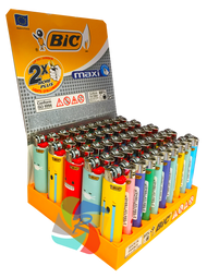 Bic Maxi Large Flint Lighters  MOOD Design  50 Pk
