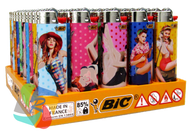 Maxi Large Flint Lighters PIN-UP GIRL Design  50 Pk