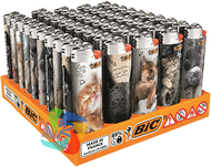 Maxi Large Flint Lighters PUPPIES & KITTENS Design  50 Pk