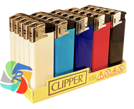 """Clipper """"Fit"""" ELECTRONIC LIGHTER SOLID COLOURS (25 Pk)"""