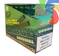PRE- ROLLED HEMP CYCLONE CONE SHAPED WRAPS - ORIGINAL - 2 PER PACK (12 PACKS PER BOX)