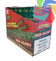 PRE- ROLLED HEMP CYCLONE CONE SHAPED WRAPS - RED ALERT - 2 PER PACK (12 PACKS PER BOX)