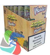PRE- ROLLED HEMP CYCLONE CONE SHAPED WRAPS - WONDER - 2 PER PACK (12 PACKS PER BOX)