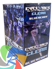 PRE- ROLLED CLEAR CYCLONE CONES - BLUEBERRY - 2 PER PACK (12 PACKS PER BOX)