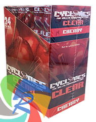 PRE- ROLLED CLEAR CYCLONE CONES - CHERRY - 2 PER PACK (12 PACKS PER BOX)