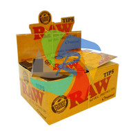 RAW NATURAL ROLLING PAPERS TIPS (Pack Size: 50) (SKU: RW002)