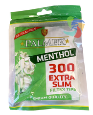 PALMER EXTRA SLIM MENTHOL FILTER TIPS 300 TIPS PER BAG (25 PER BOX)