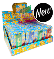 RIZLA 1oz TOBACCO / GIFT TINS & RIZLA REGULAR PAPERS (20 Pk)