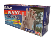 CLEAR VINYL GLOVES. POWDER FREE  SIZE SMALL (100 Pieces).