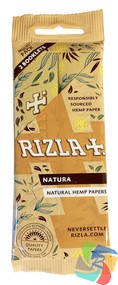 RIZLA NATURA KINGSIZE HEMP SLIM ROLLING PAPER MULTI 2 PACK (60 X 2 BOOKLETS PER BOX)