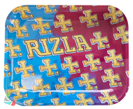 RIZLA Metal Rolling Trays - MULTI LOGO DESIGN (4 SIZES)
