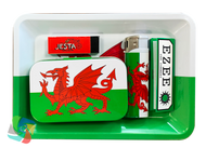 WALES MINI Metal Rolling Tray Gift Set with Smokers Accessories