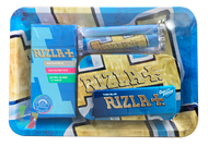 RIZLA MINI Metal Rolling Tray Gift Set with Smokers Accessories
