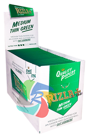 RIZLA GREEN REGULAR PAPERS (Pack Size: 100) (SKU: RZ001)