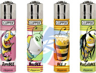 Clipper Flint Lighters with BEES 2 Design -  40 pack