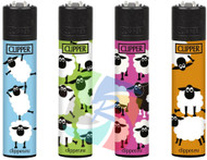 Clipper Flint Lighters with SHEEP Design -  40 pack