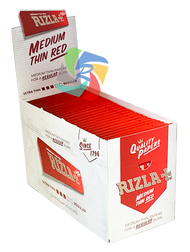 RIZLA RED REGULAR PAPERS (Pack Size: 100) (SKU: RZ002)